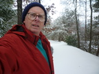 A selfie - it's easier than shovelling