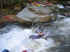 Crazy kayakers in the Green River Gorge, NC